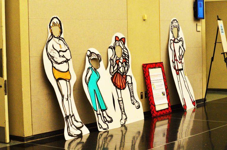 Rica Takashima's interactive sculptures: Peekaboo-kun. Q&C 2015, NYC.
