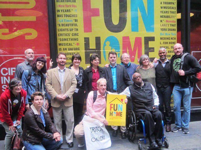 Fun Home on Broadway. Q&C 2015, NYC