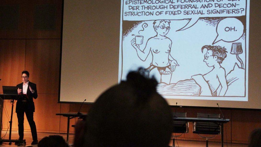 Alison Bechdel, Keynote Presentation. Q&C 2015, NYC