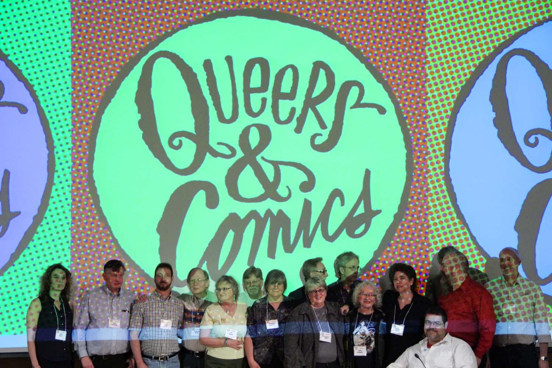 Gay Comix(cs) Reunion. Editors, publisher, and contributors. Q&C 2015, NYC.