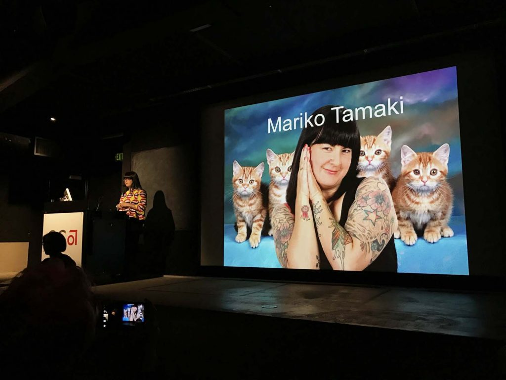 Mariko Tamaki, Keynote Presentation. Q&C 2017, SF