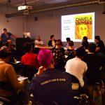 Los Super Comicistas! Latinx Comic Artists. Jaime Cortez, Diego Gomez, Kris Barz, Eloisa Aquino, Terry Blas, Ivan Velez. Q&C 2017, SF.
