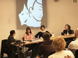 Down & Dirty: Queer Women Sexing It Up in Comics. Yetta Howard, Sophia Foster-Dimino, Giulietta Wertz-Best, Dorian Katz. Q&C 2017, SF.