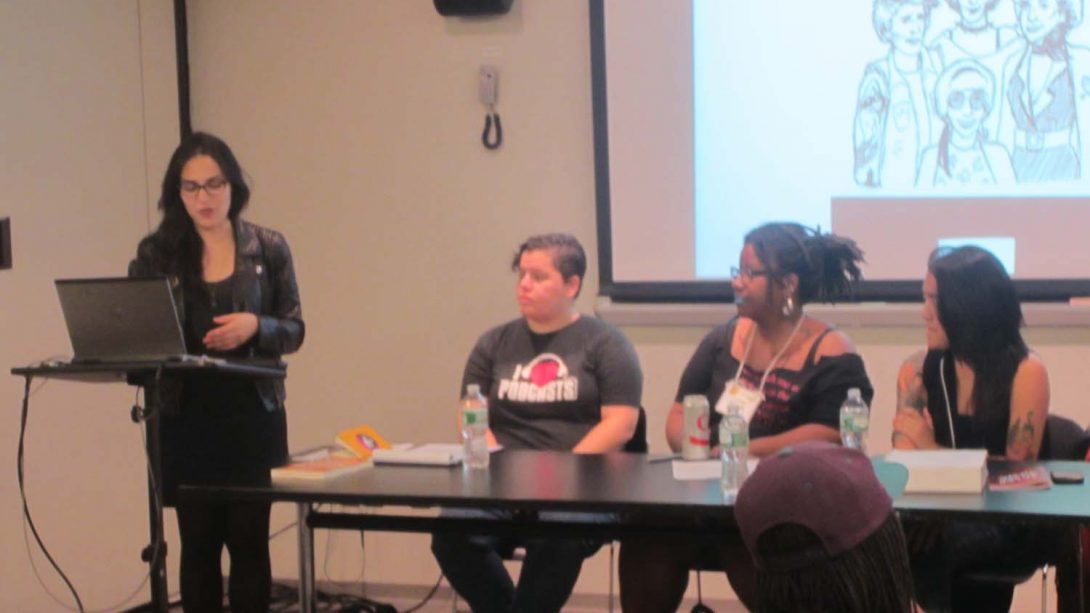 QPOC Arts and Activism. Suzy X, Nia King, Joyce Hatton, Raychelle Duazo. Q&C 2015, NYC.