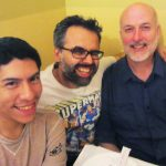 Carlo Quispe, Sina (Sparrow) Shamsavari, Jon Macy. Q&C 2015, NYC.
